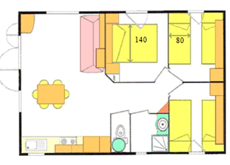 Hébergements locatifs - Plans des Chalets